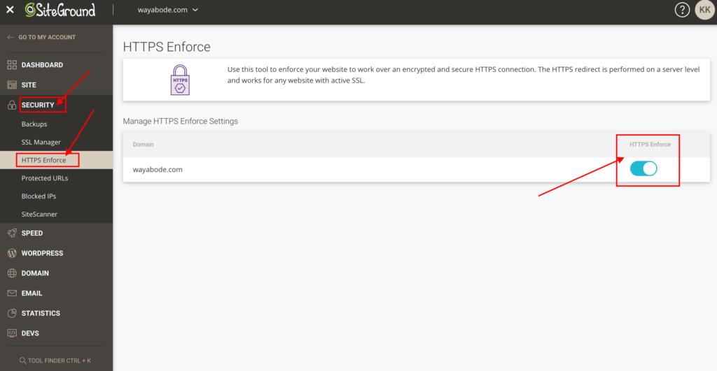 HTTPS Enforce.