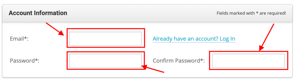 Enter your Account Information.