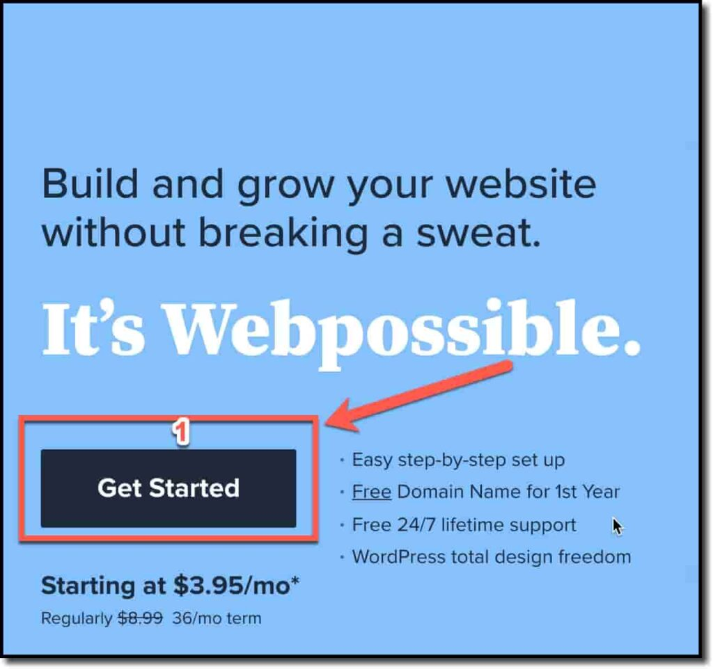 Click on Get Started