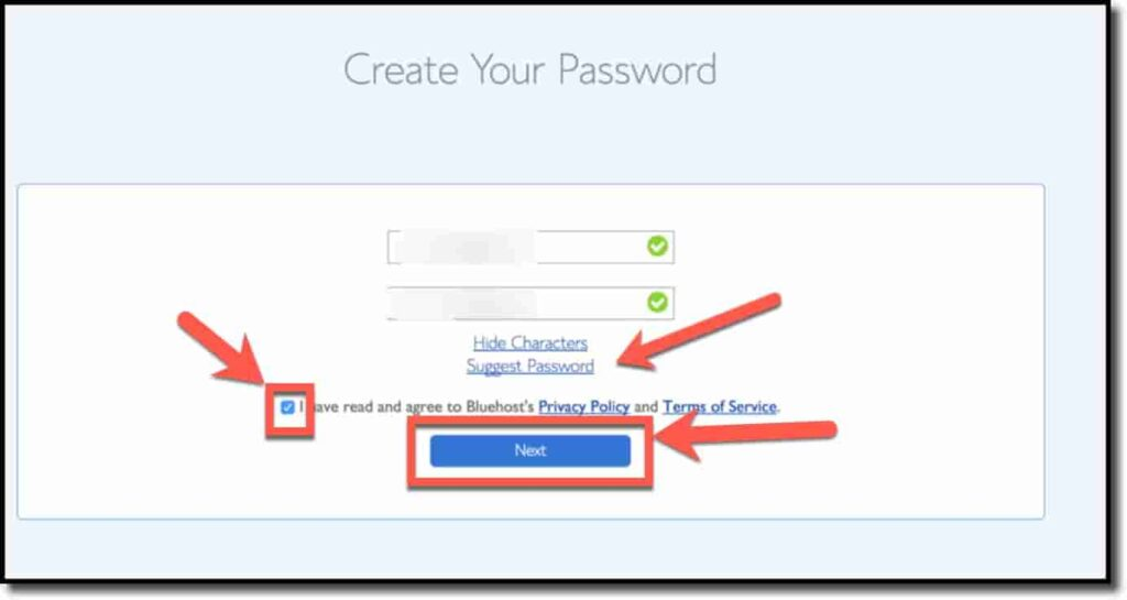 Create your own password.